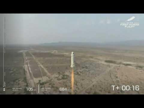 Jeff Bezos lifts off for space aboard Blue Origin rocket
