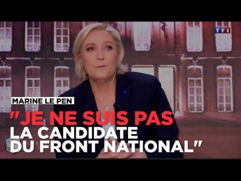 """""""Je ne suis pas la candidate du Front national"""", affirme Marine Le Pen"""