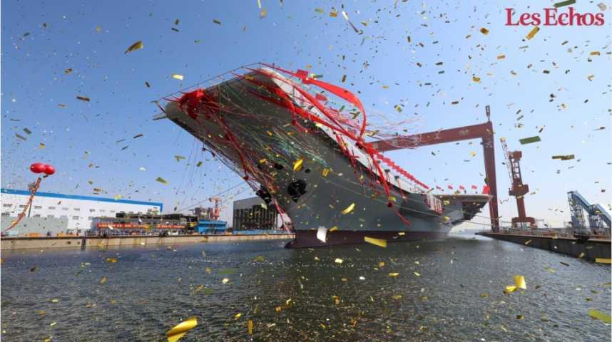 Illustration pour la vidéo Pékin lance son premier porte-avions 100% chinois