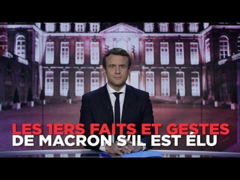Coups de téléphone, déplacements à l'étranger... ce que Macron fera en premier s'il est élu
