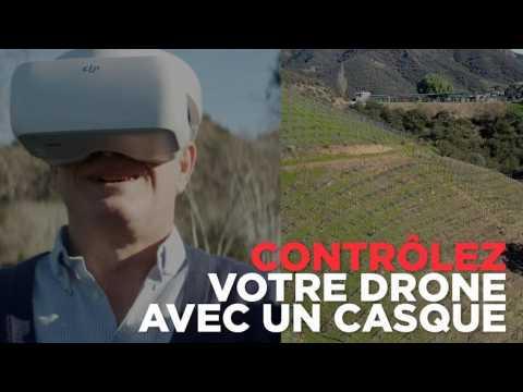 Ce casque permet de piloter la caméra de son drone avec la tête