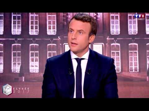 """Macron : """"Marine Le Pen me poursuit sur les lieux où je me trouve"""""""