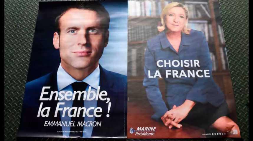 Illustration pour la vidéo Présidentielle : moins d'un Français sur trois satisfait par le duel Macron-Le Pen