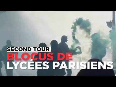 """Blocus à Paris : des lycéens ne veulent """"Ni Le Pen, ni Macron"""""""