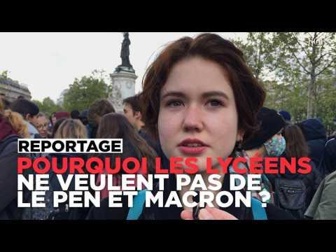 """""""Ni Le Pen, ni Macron"""" : les lycéens parisiens expliquent pourquoi ils refusent de choisir"""