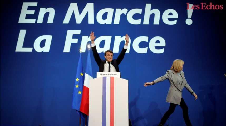 Illustration pour la vidéo Emmanuel Macron élu président de la République