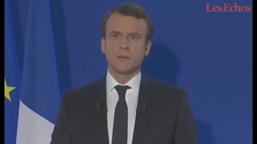 """Illustration pour la vidéo Emmanuel Macron : """"Je défendrai la France, ses intérêts vitaux, son image"""""""
