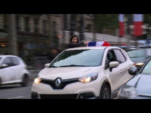 French vote: Celebrations on the Champs-Elysées