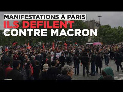 Plusieurs milliers de manifestants défilent contre Macron