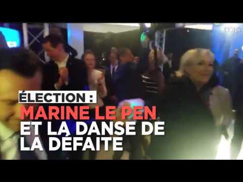 Marine Le Pen danse malgré sa défaite