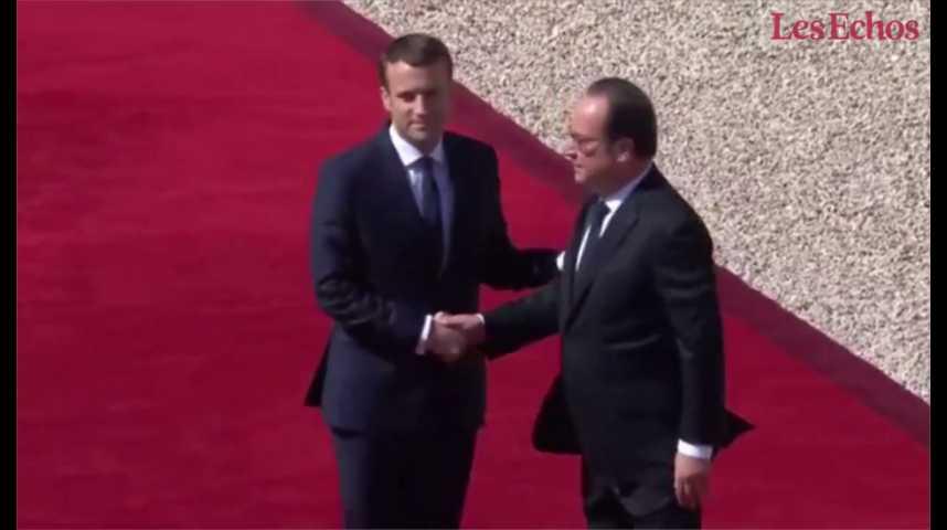Illustration pour la vidéo Revivez la passation de pouvoir entre François Hollande et Emmanuel Macron