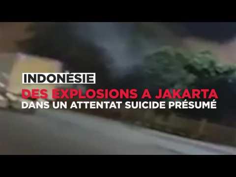 Explosions à Jakarta dans un attentat-suicide présumé