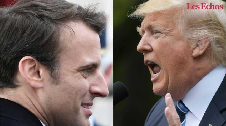 Illustration pour la vidéo Trump – Macron, les enjeux d'une première rencontre