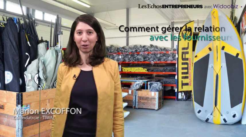 Illustration pour la vidéo Marion Excoffon, Gérer la relation avec les fournisseurs