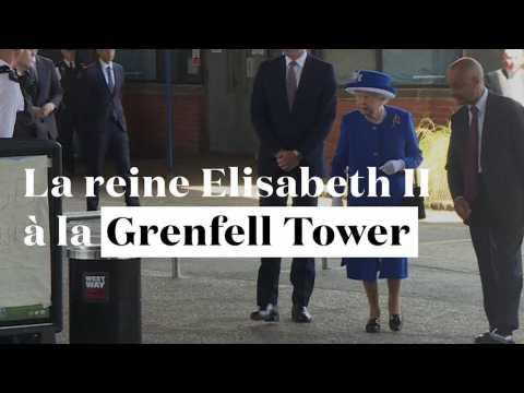 Grenfell Tower : la reine Elisabeth II rencontre les secouristes et les résidents