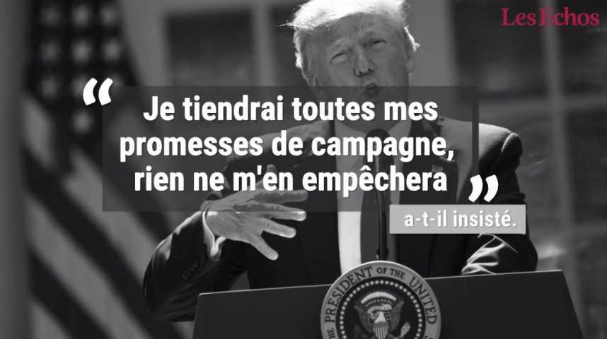 Illustration pour la vidéo Trump annonce le retrait des Etats-Unis de l'accord de Paris sur le climat