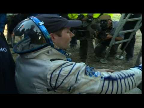 Russian, French astronauts back on Earth from ISS