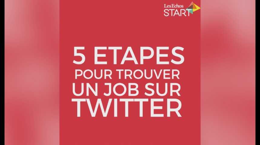 Illustration pour la vidéo Comment bien utiliser Twitter pour trouver un job