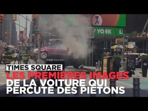 Les premières images du véhicule qui a percuté des piétons à Times Square