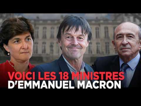 Hulot, Bayrou, Le Maire, Flessel : voici les 18 ministres de Macron en moins d'une minute