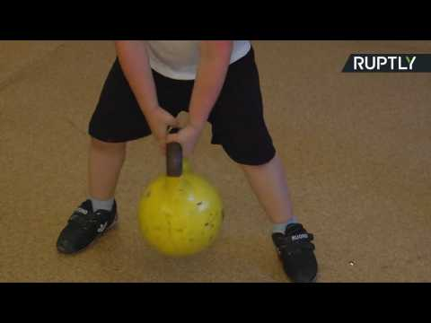 Super Strong Siberian 4-Year-Old Can Lift 9lb Kettleball 117 Times