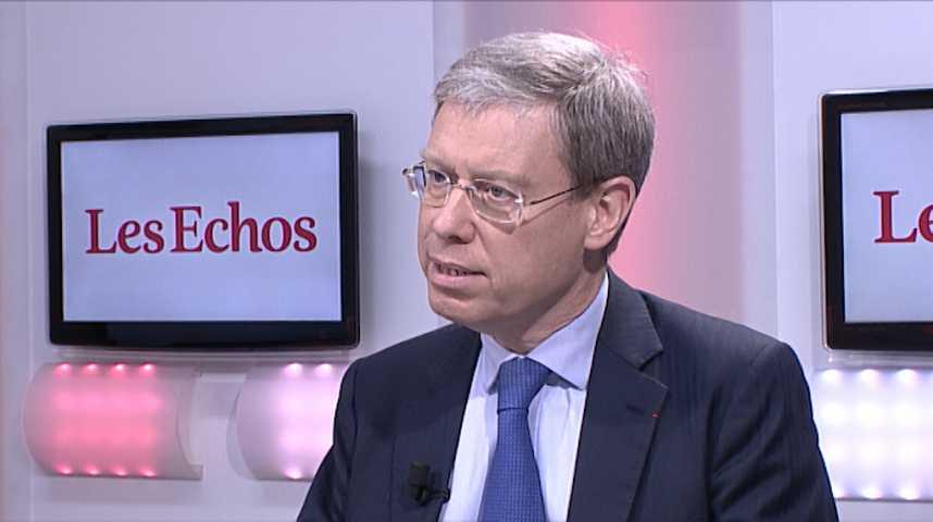 Illustration pour la vidéo «On va vers deux années d'accélération de la croissance» (Jean Beunardeau, DG France d'HSBC)