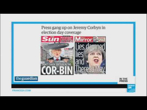 Don't chuck Britain in the Cor-bin: Tabloids back Theresa May in UK vote