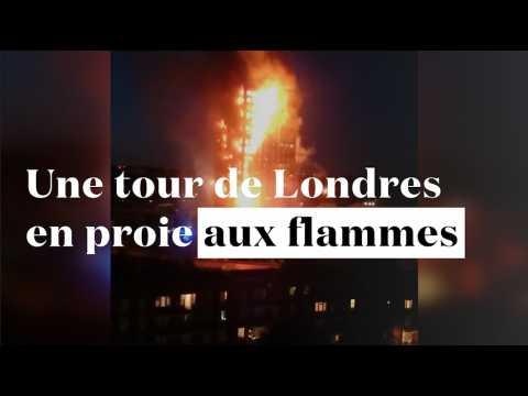 Londres : gigantesque incendie dans une tour d'habitation de 30 étages