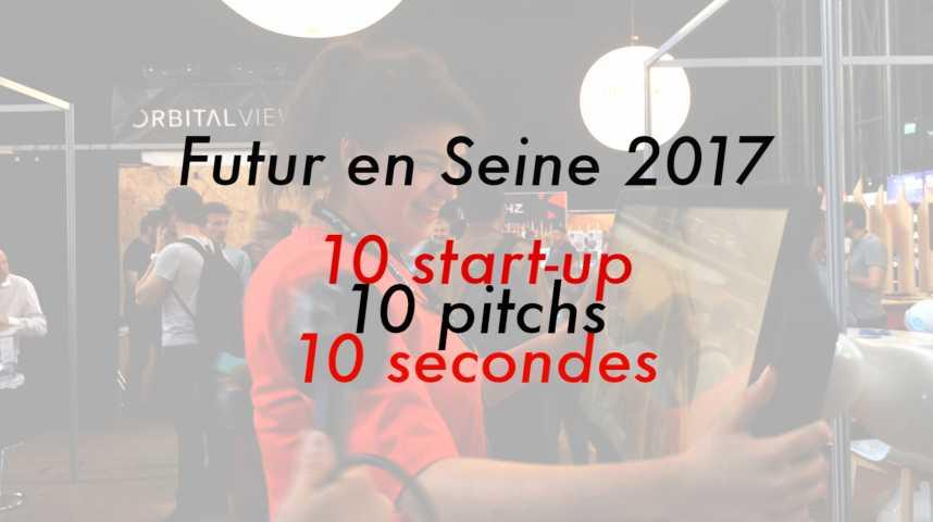 Illustration pour la vidéo Futur en Seine: 10 start-up, 10 pitchs, 10 secondes