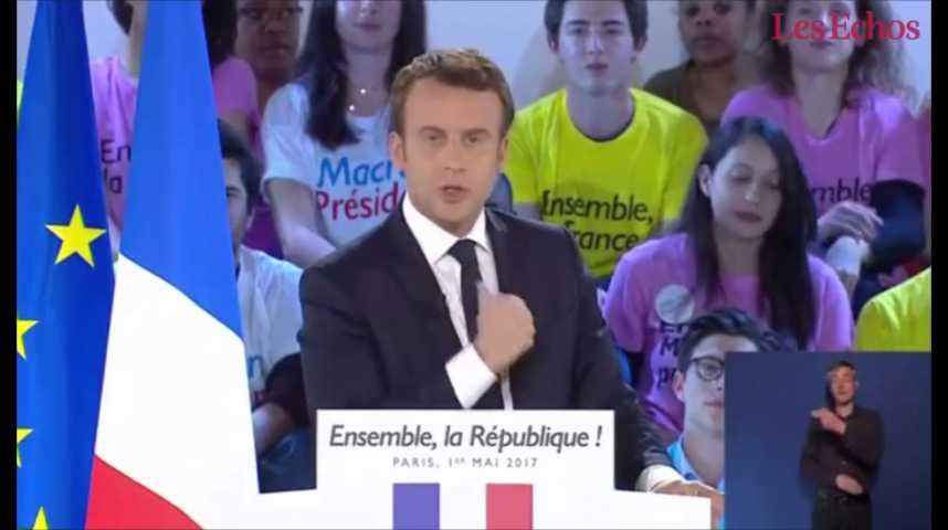 """Illustration pour la vidéo """"Le Front national est le parti de l'anti-France"""", dénonce Emmanuel Macron"""