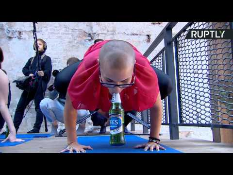 Thank God It's Friday! 'Beer Yoga' Taking Off in Moscow