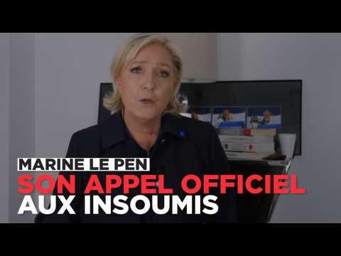 Le Pen : son appel aux électeurs de Mélenchon sur Twitter
