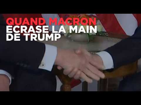Quand Macron écrase la main de Trump