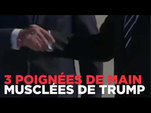 3 poignées de main musclées de Donald Trump