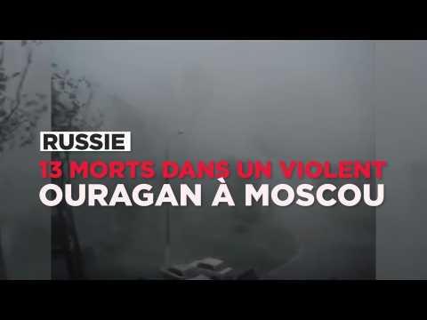13 morts dans un très violent ouragan à Moscou