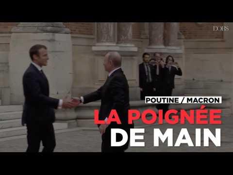 Poutine / Macron : la poignée de main à Versailles