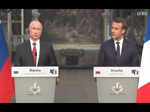 """Macron : """"Russia Today et Sputnik sont des organes de propagande"""""""