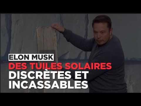 Elon Musk dévoile des tuiles photovoltaïques incassables et garanties à vie
