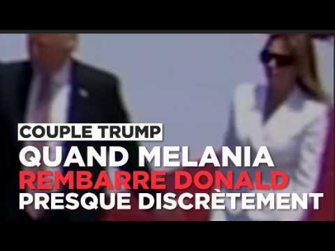 Quand Melania Trump refuse de donner la main à son mari