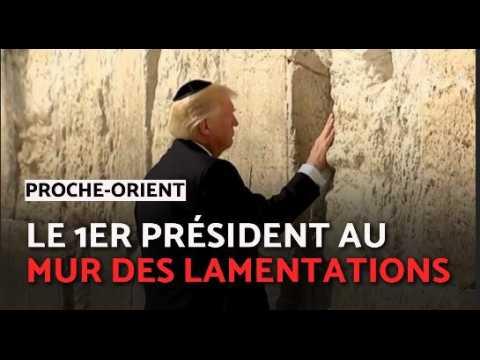 Donald Trump 1 er président américain au Mur des Lamentations