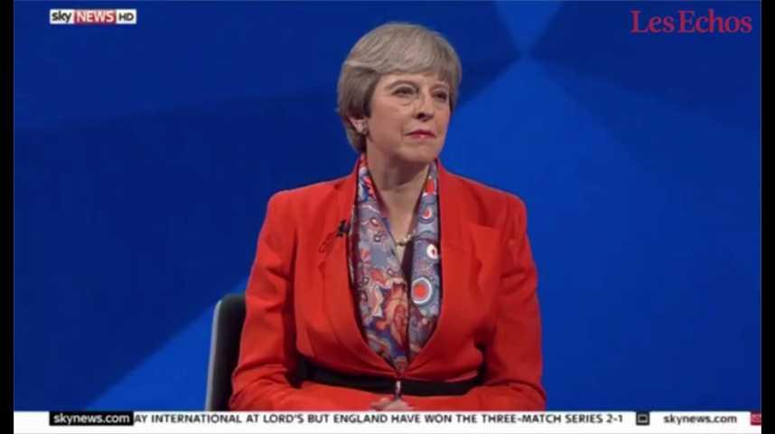 Illustration pour la vidéo Brexit : Theresa May déstabilisée à la télévision