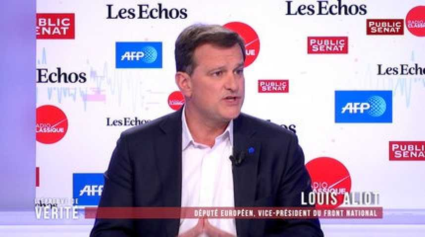 """Illustration pour la vidéo Choix des militants de Mélenchon de ne pas voter Macron au second tour : Louis Aliot """"trouve ça très sain"""""""