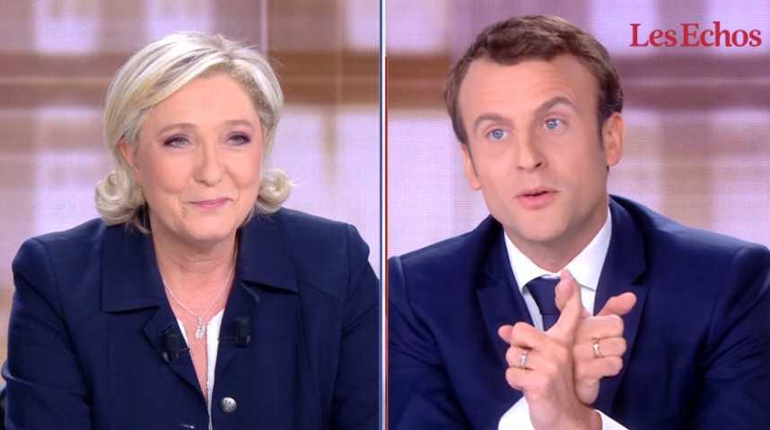 Illustration pour la vidéo Débat : passes d'armes entre Macron et Le Pen
