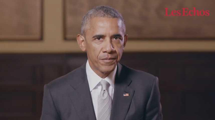 Illustration pour la vidéo Barack Obama apporte son soutien à Emmanuel Macron : « Vive la France ! »