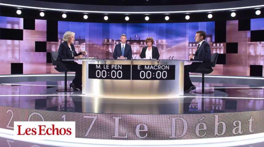 Illustration pour la vidéo L'œil de Jean-Marc Vittori : comment le débat a viré à la retraite de Russie pour Marine Le Pen