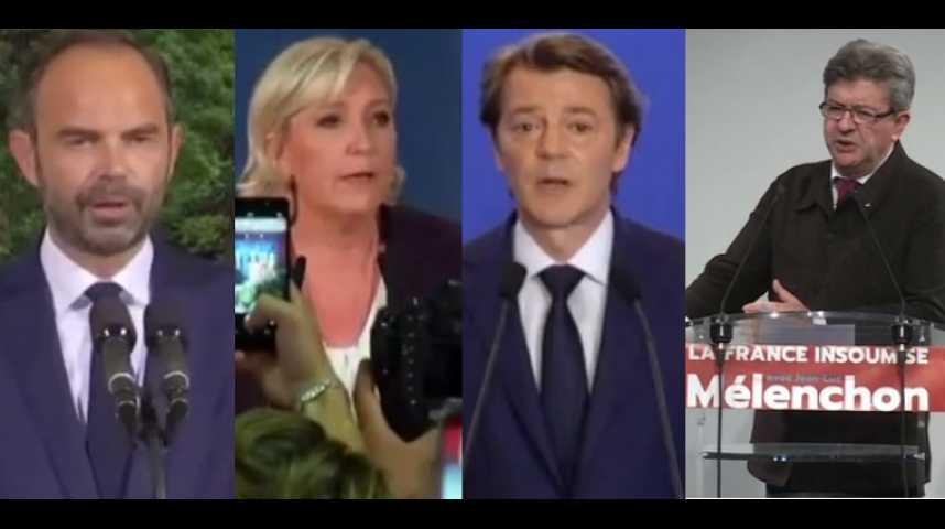 """Illustration pour la vidéo Les réactions politiques face à la vague """"En Marche"""""""