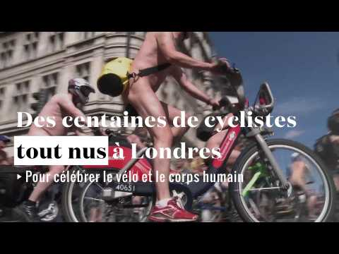 Des centaines de cyclistes défilent tout nus à Londres