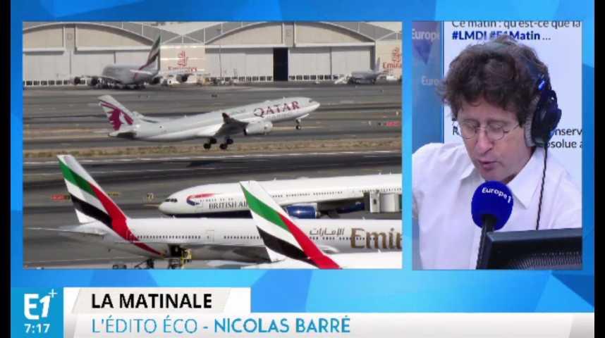 Illustration pour la vidéo Les compagnies aériennes du Golfe dans le viseur de Bruxelles