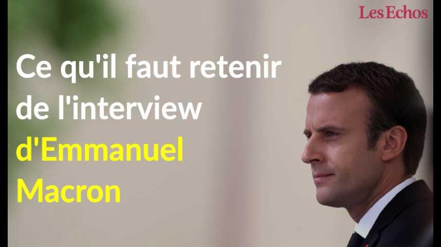 Illustration pour la vidéo Ce qu'il faut retenir de l'interview d'Emmanuel Macron
