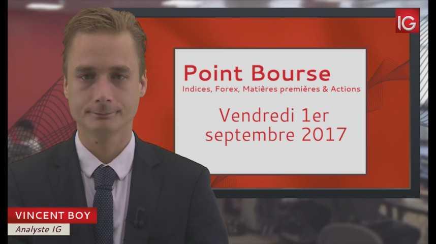 Illustration pour la vidéo Point Bourse du vendredi 1er septembre 2017